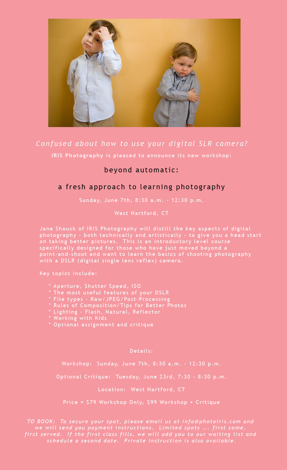 Photo workshop beyond automatic