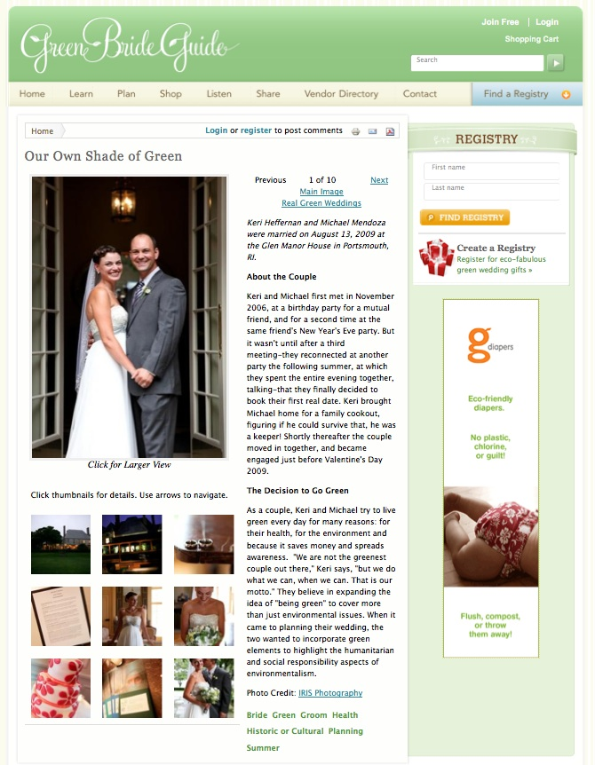 published ct magazine green bride guide blog keri michael